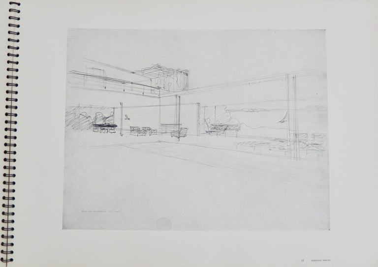 1969 Ludwig Mies van der Rohe/ Folio of Architectural Drawings/MOMA In Good Condition For Sale In Winnetka, IL