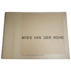 1969 Ludwig Mies van der Rohe/ Folio of Architectural Drawings/MOMA
