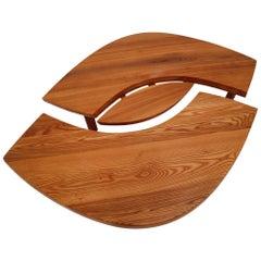 """1969 Pierre Chapo T22 Eye-Shaped Coffee Table Model """"L'OEIL"""""""