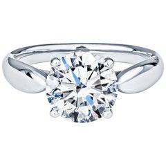 1.96ct Tiffany & Co. Round Brilliant F VS2 Diamond in Platinum Solitaire Ring