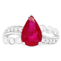 1.97 Carat Ruby and Diamond Ring