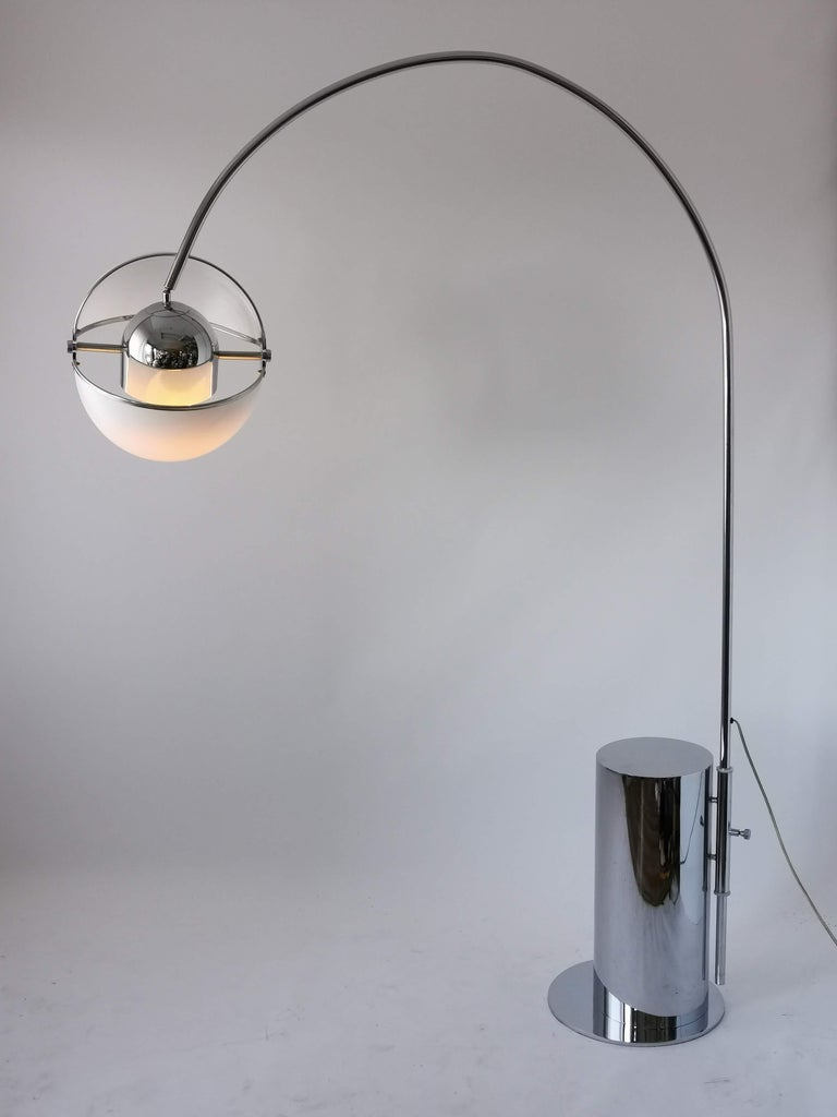 Mid-20th Century 1970 Arch Floor Lamp in the Style of Superstudio, Italia For Sale