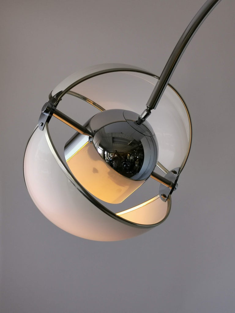 Chrome 1970 Arch Floor Lamp in the Style of Superstudio, Italia For Sale
