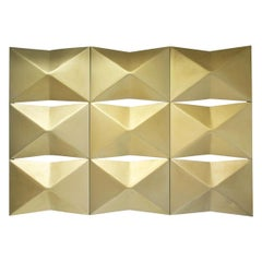 1970, Architectural set wall panels golden Aluminum Facade Elements