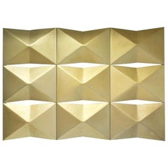 1970, Architectural Set Wall Panels Golden Aluminum Facade Elements