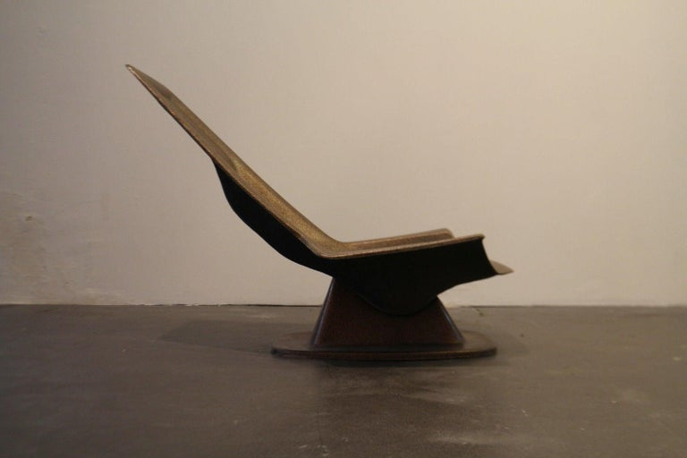 Lounge chair, Charles Zublena, 1970  Rare model.  Fiberglass, original color, glittery but without shine.