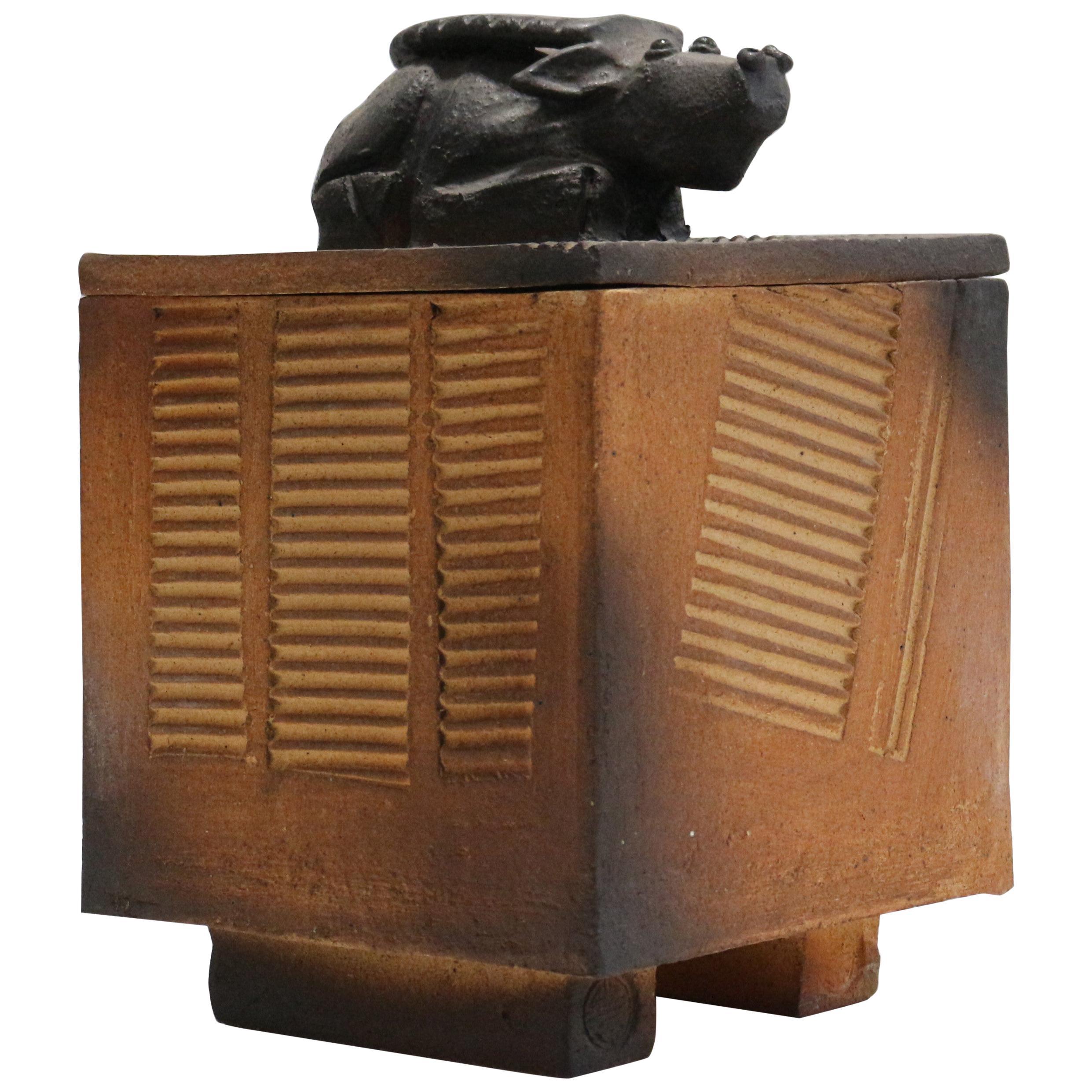 1970, Ceramic Box Sculpture by Atelier Palègre
