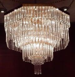 1970 'Chandelier Ceiling Lamp Murano Venini 1m20 Diameter