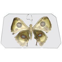 1970 Coffee Table Butterfly Illuminating DLG D.Brasseur or I.Faure or Fernandez