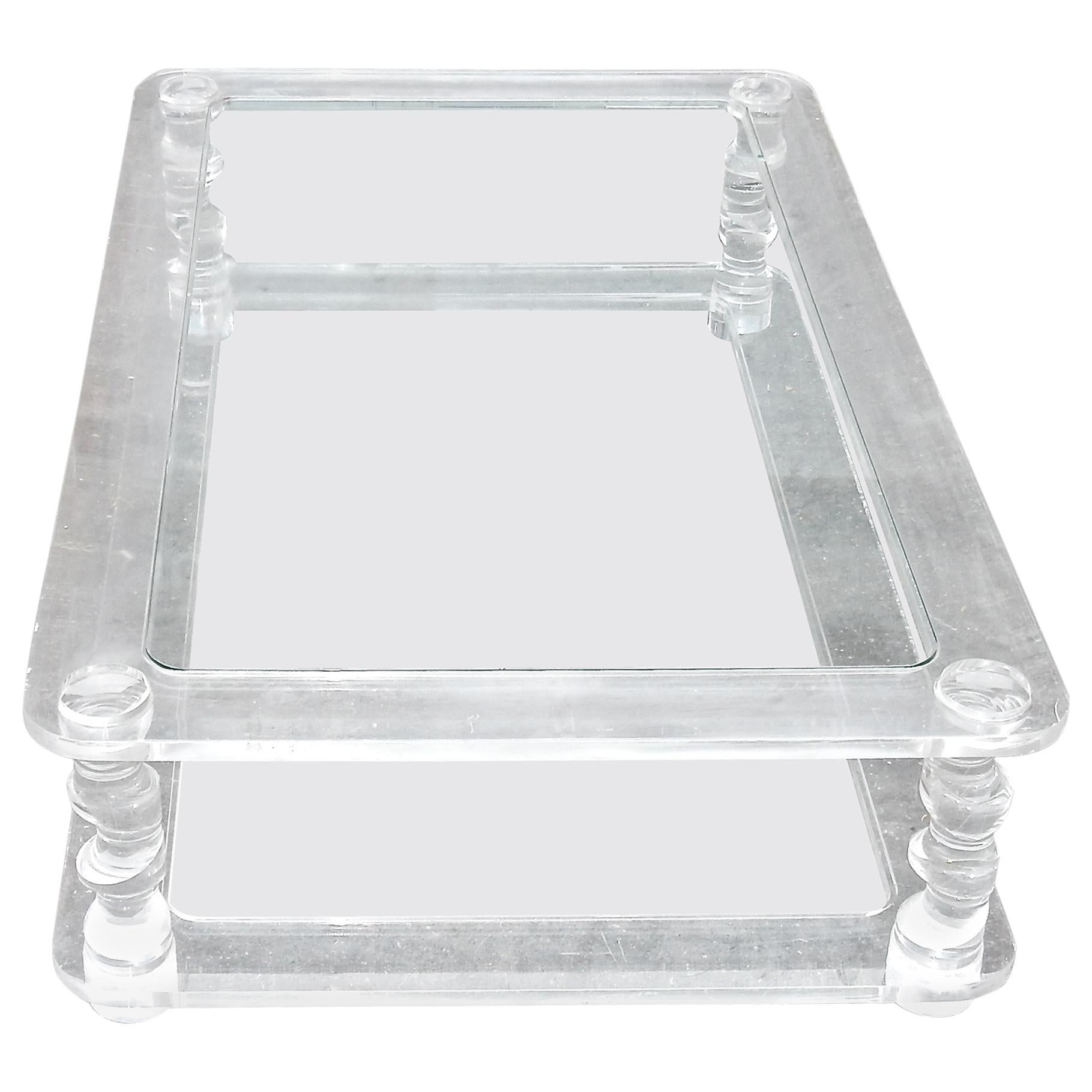 1970' Coffee Table in Lucite Roméo