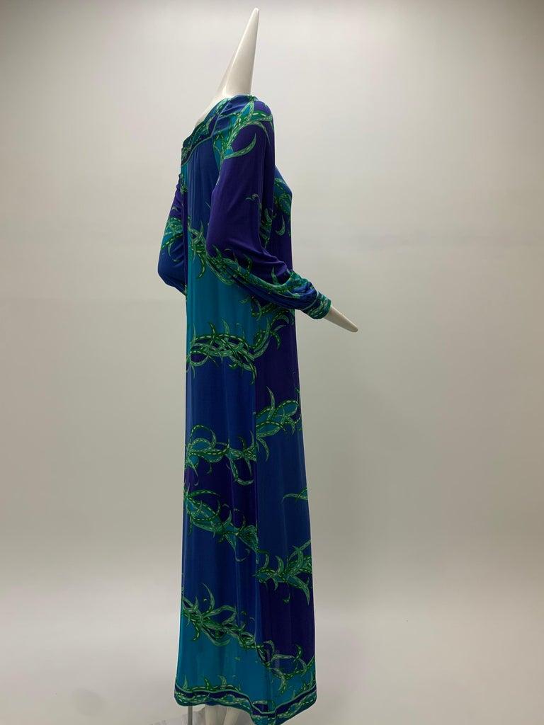 1970 Emilio Pucci Silk Jersey Print Maxi Dress  For Sale 6