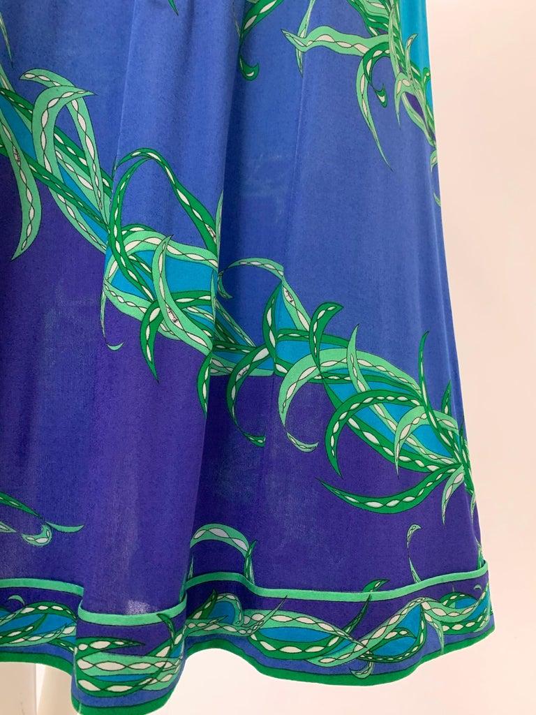 Women's 1970 Emilio Pucci Silk Jersey Print Maxi Dress  For Sale