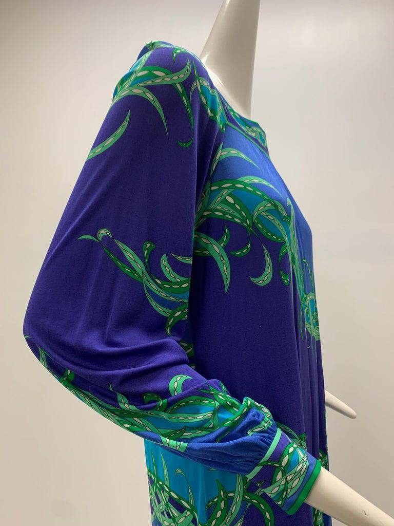 1970 Emilio Pucci Silk Jersey Print Maxi Dress  For Sale 2
