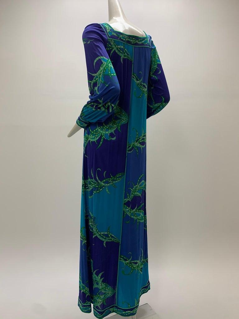 1970 Emilio Pucci Silk Jersey Print Maxi Dress  For Sale 3