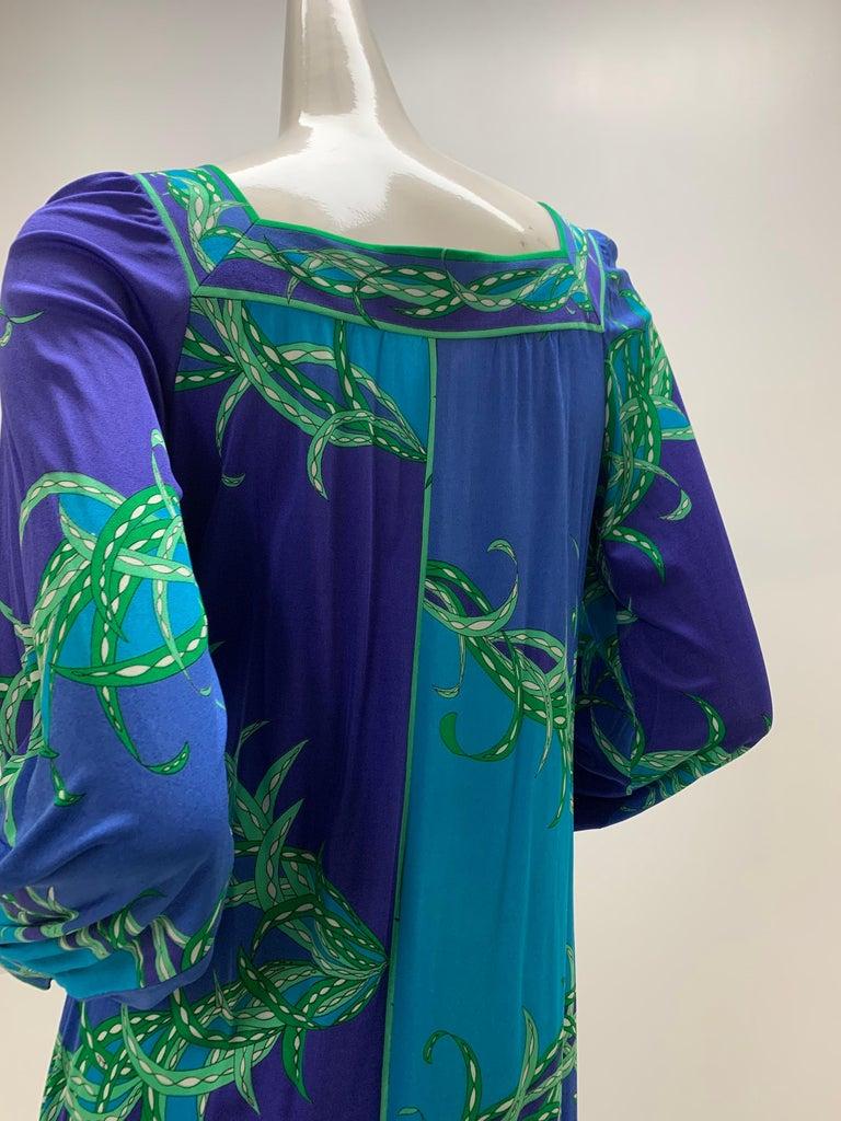 1970 Emilio Pucci Silk Jersey Print Maxi Dress  For Sale 4
