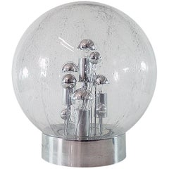 1967 Germany Doria 'Big Ball' Sputnik Table Light Murano Glass and Chrome