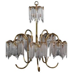 1970 Brass Chandelier with Icicles, Spain