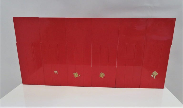 1970 Heller Modern Plastic Pair Record/Magazine Racks by Giotto Stoppino Pop Art For Sale 4