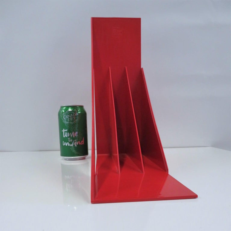 1970 Heller Modern Plastic Pair Record/Magazine Racks by Giotto Stoppino Pop Art For Sale 8