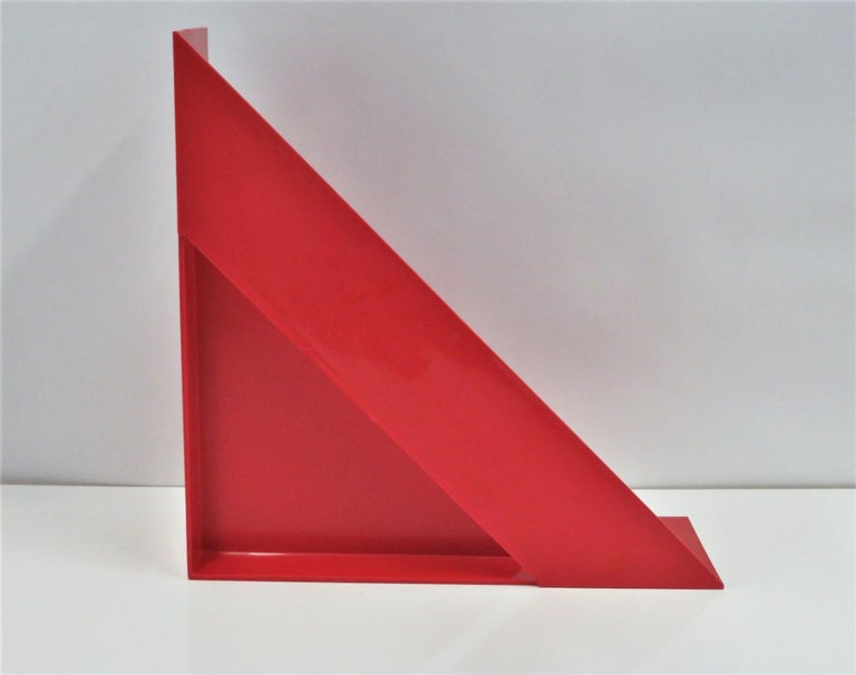 1970 Heller Modern Plastic Pair Record/Magazine Racks by Giotto Stoppino Pop Art In Good Condition For Sale In Miami, FL