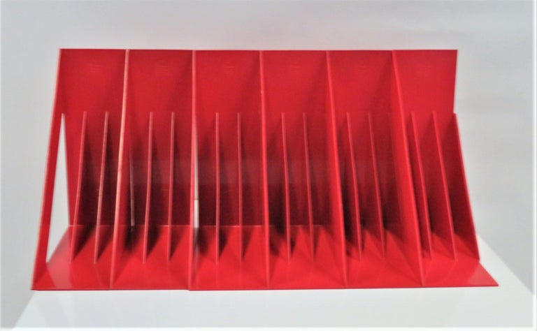 1970 Heller Modern Plastic Pair Record/Magazine Racks by Giotto Stoppino Pop Art For Sale 2