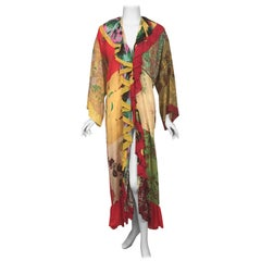 1970 Henri Bendel Rich Hippie Chic, Silk Dress, Robe or Cover-Up