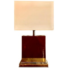 1970 Lacquered Table Lamp by J.C. Mahey