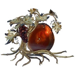 1970 Lamp with Bunch of Grapes Fernandez or Duval Brasseur for Honore, Paris