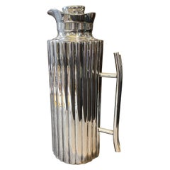 1970 Modernist Silver Plated Italian Thermos Carafe by Cassetti Firenze