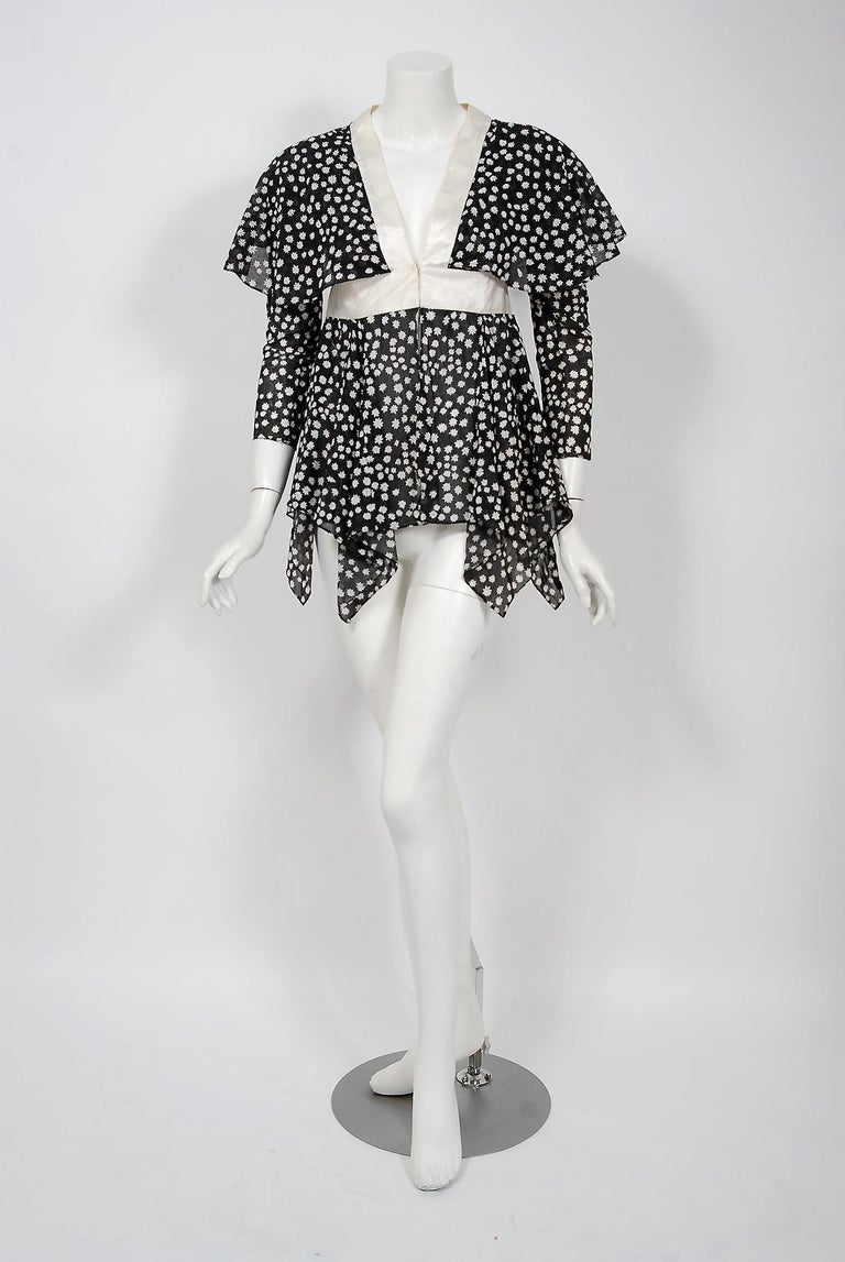 A gorgeous Ossie Clark statement blouse dating back to his 1970 couture collection. Raymond