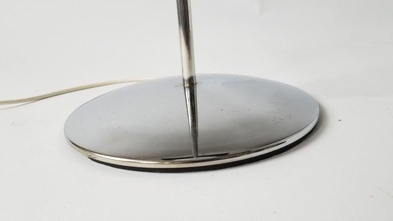 1970 Pair of Reggiani Acrylic Shade on Chrome Floor Lamp, Italy For Sale 7