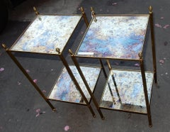 1970' Pair  of Stools In The Style Of Maison Bagués 32 X 32 cm
