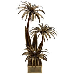 "1970 ""Palm Tree, Floor Lamp  3 Heads Baroque Style"
