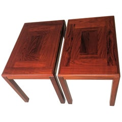 1970s Set of Two Restored Danish Sidetables in Mahogany by Vejle Stole Fabrik