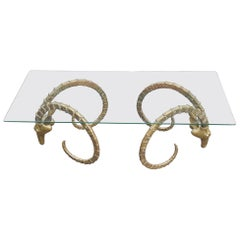 1970 Sculptural Ibex Heads Table Attributed to Alain Chervet