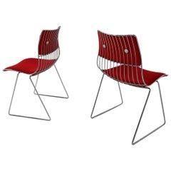 1970 Set of Eight Belgium Dining Chairs by Rudi Verelst for Novalux
