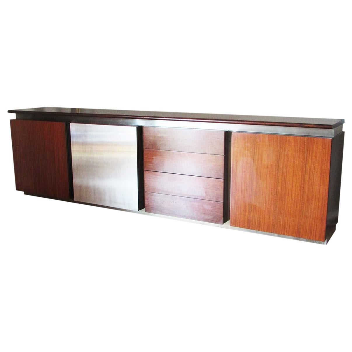 Mid-Century Modern, Italy, 1970 Stainless Steel Sideboard by Giotto Stoppino