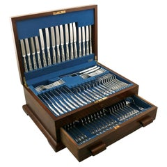 1970 Sterling Silver Canteen of Cutlery for Eight Persons