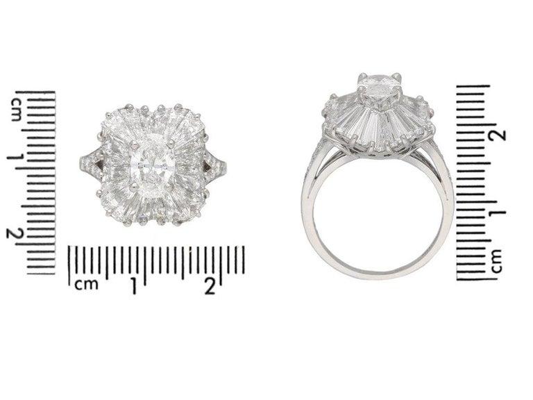 1970 Tiffany And Co Diamond Platinum Ballerina Ring For