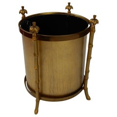 1970 Wastebasket in Bronze in the Style of Maison Charles