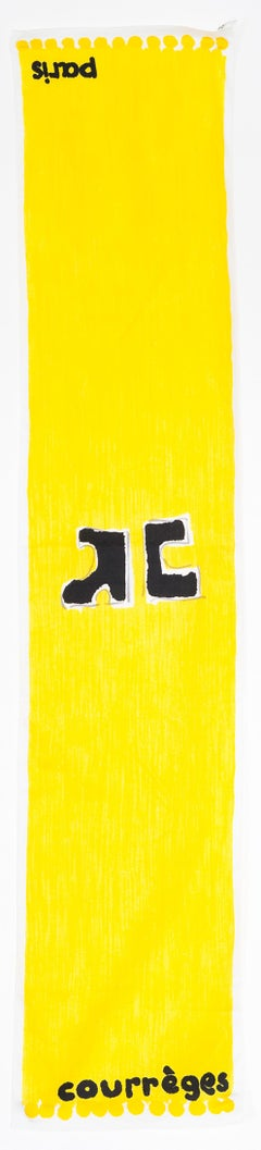 1970 Yellow Courreges Cotton Scarf