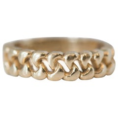 1970s 14 Karat Yellow Gold Cuban Link Ring