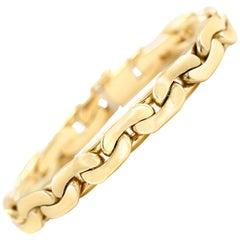 1970s 14 Karat Yellow Gold Link Men's Bracelet