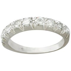 1970s 1.62 Carat Diamond and White Gold Half Eternity Ring