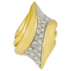 1970s 18 Karat Yellow Gold with Daiamonds
