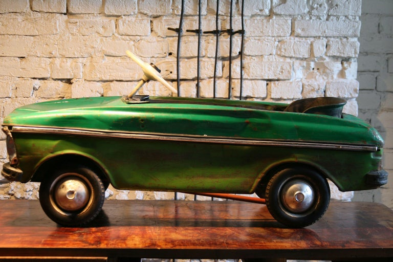Late 20th Century 1970s a Metal Pedal Car Moskvich Azak For Sale