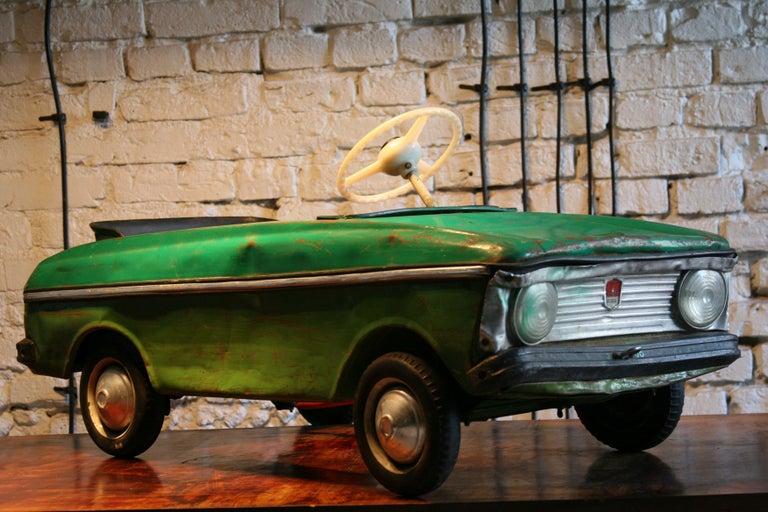 Steel 1970s a Metal Pedal Car Moskvich Azak For Sale