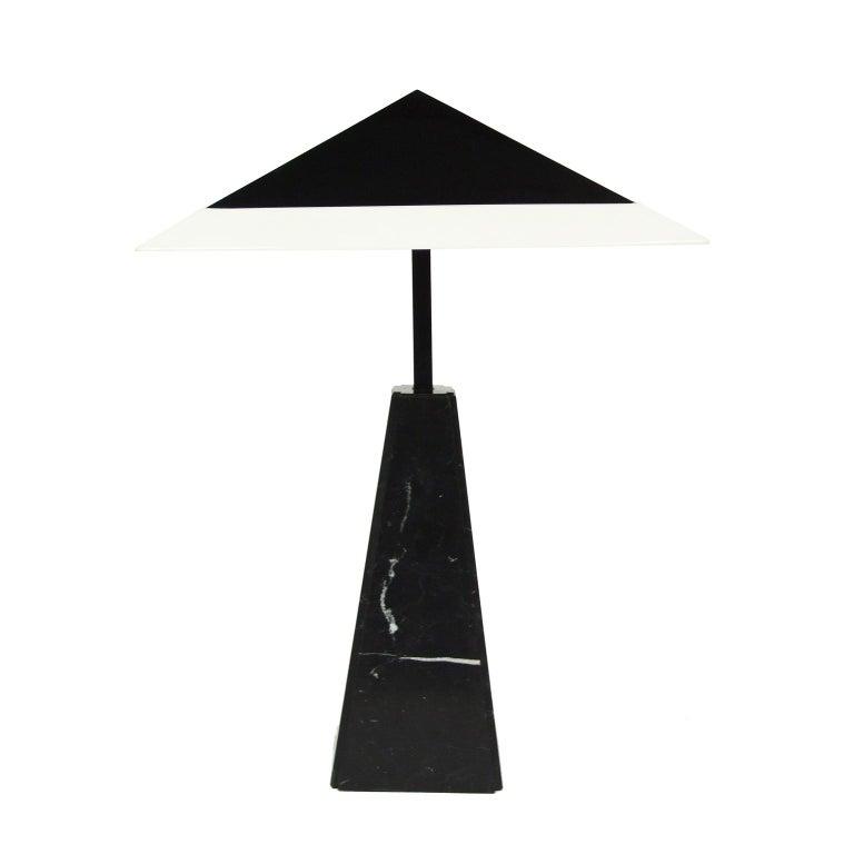 Italian 1970s Abat Jour Marble Table Lamp by Cini Boeri for Arteluce For Sale