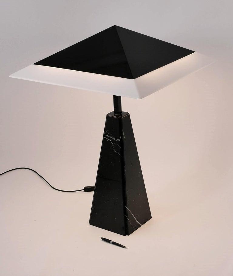 Enameled 1970s 'Abat Jour' Table Lamp by Cini Boeri for Arteluce, Italy For Sale
