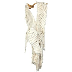 1970s Abstract Fabric Fiber Textile Hanging Sculpture after Aurelia Munoz